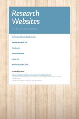 Research Websites