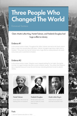 Three People Who Changed The World