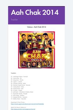 Aah Chak 2014