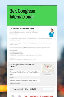 3er. Congreso Internacional