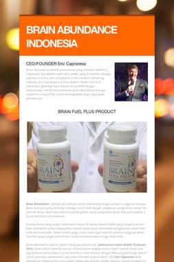 BRAIN ABUNDANCE INDONESIA