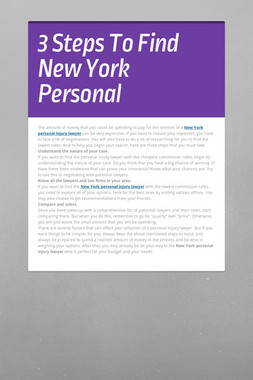 3 Steps To Find New York Personal