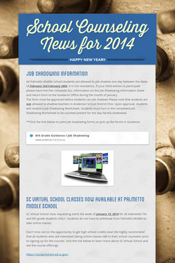 School Counseling News for 2014
