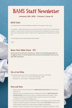 BAMS Staff Newsletter
