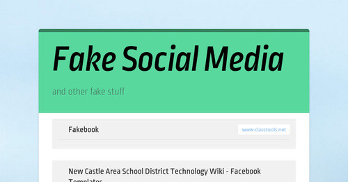Fake Social Media Smore Newsletters For Education