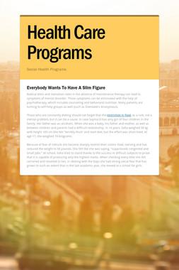 Health Care Programs