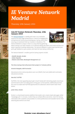 IE Venture Network Madrid