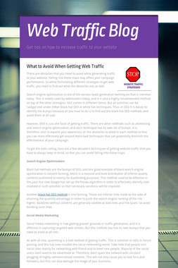Web Traffic Blog
