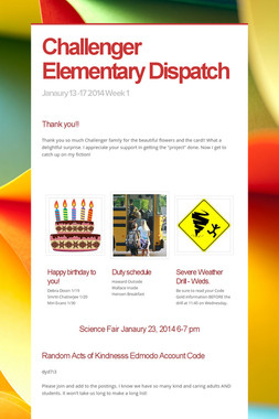Challenger Elementary Dispatch