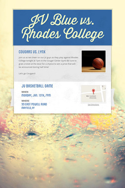JV Blue vs. Rhodes College