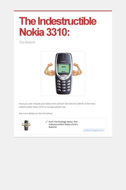 The Indestructible Nokia 3310: