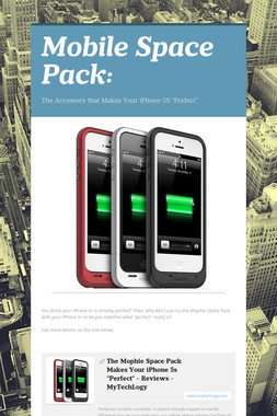 Mobile Space Pack: