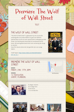 Première The Wolf of Wall Street