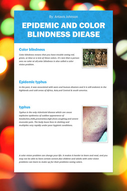 Epidemic And Color Blindness Diease