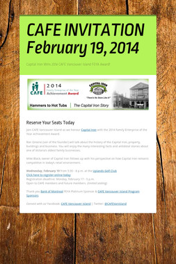 CAFE INVITATION February 19, 2014