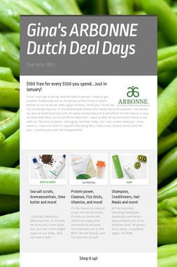 Gina's ARBONNE Dutch Deal Days