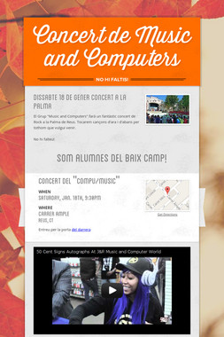 Concert de Music and Computers