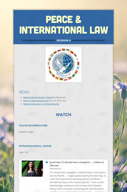 Peace & International Law