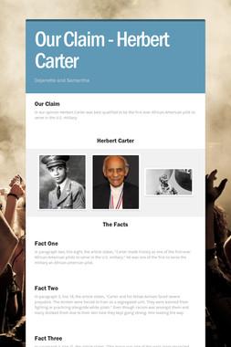 Our Claim - Herbert Carter