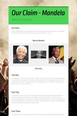 Our Claim - Mandela
