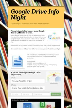 Google Drive Info Night