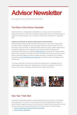 Advisor Newsletter
