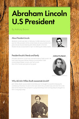 Abraham Lincoln U.S President