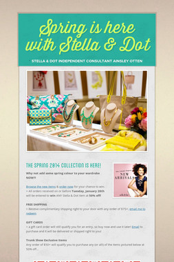 Spring is here with Stella & Dot