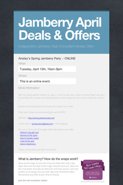 Jamberry April Deals & Offers
