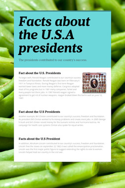 Facts about the U.S.A presidents