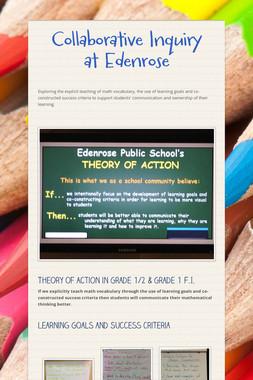 Collaborative Inquiry at Edenrose