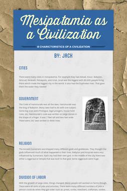 Mesipatamia as a Civilization