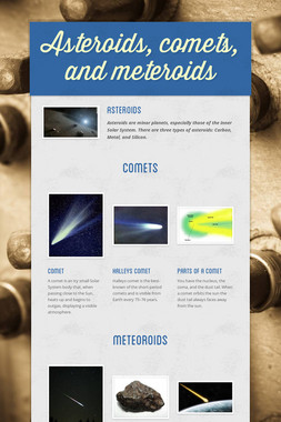 Asteroids, comets, and meteroids