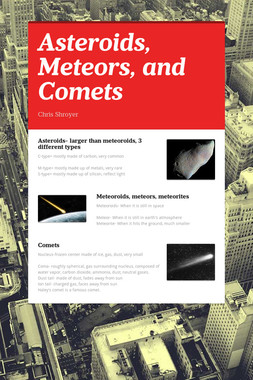 Asteroids, Meteors, and Comets