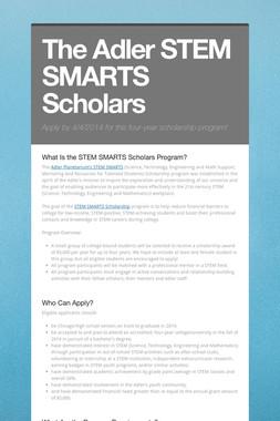 The Adler STEM SMARTS Scholars