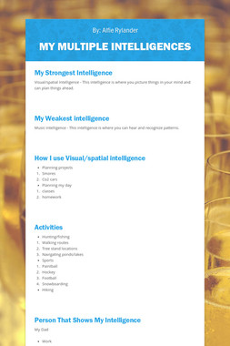 My Multiple Intelligences