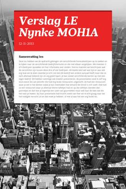 Verslag LE Nynke MOH1A