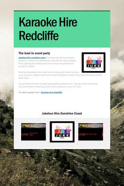 Karaoke Hire Redcliffe