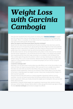 Weight Loss with Garcinia Cambogia