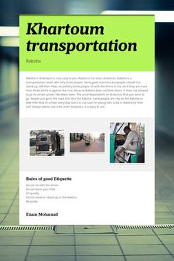 Khartoum transportation