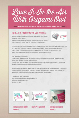 Love Is In the Air With Origami Owl