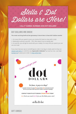 Stella & Dot Dollars are Here!