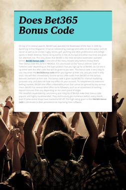 Does Bet365 Bonus Code