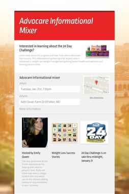 Advocare Informational Mixer