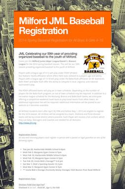 Milford JML Baseball Registration