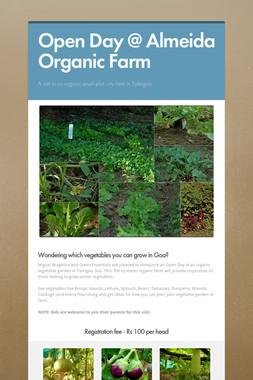 Open Day @ Almeida Organic Farm