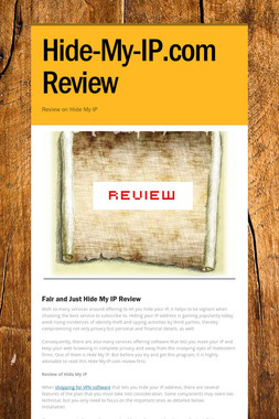Hide-My-IP.com Review