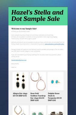 Hazel's Stella and Dot Sample Sale