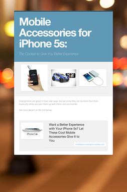 Mobile Accessories for iPhone 5s: