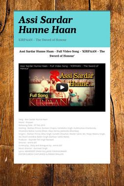 Assi Sardar Hunne Haan